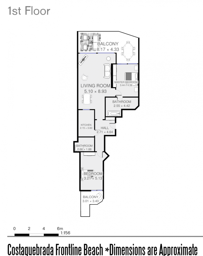Floor Plan of Costaquebrada Apartment