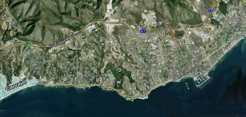 map of Carvajal, Benalmadena-Property Sales listings