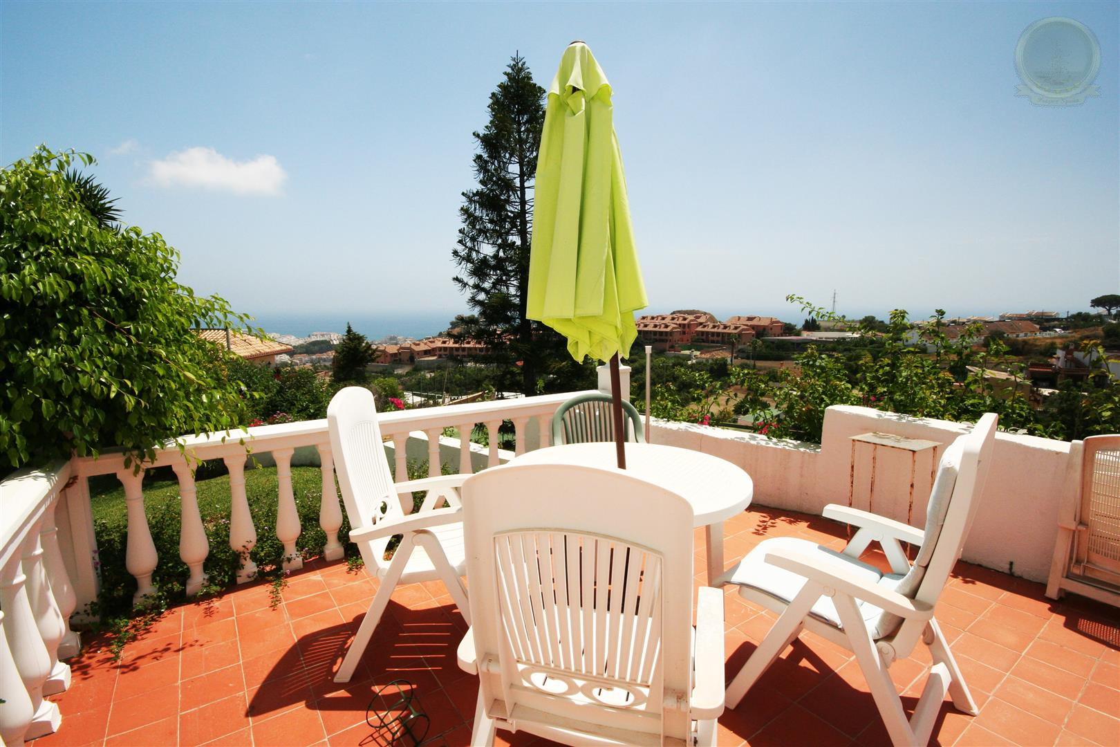 Villa for Sale in Benalmadena Pueblo - terrace area