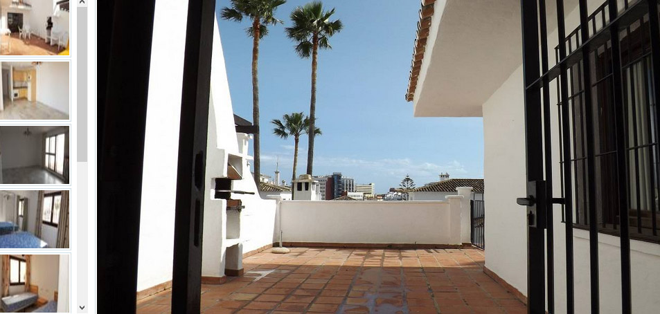 terrace of 2 bed apartment for sale in Pueblo evita