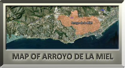 map with villas for sale in Arroyo de la Miel Montealto