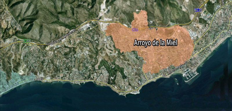 map of Arroyo de la Miel-villas for sale
