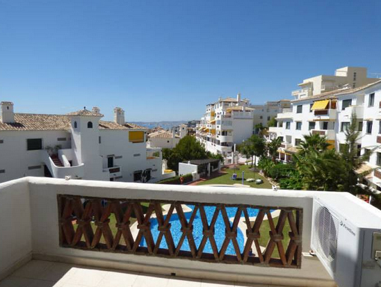 terrace of Pueblo Torrequebrada apartment for sale