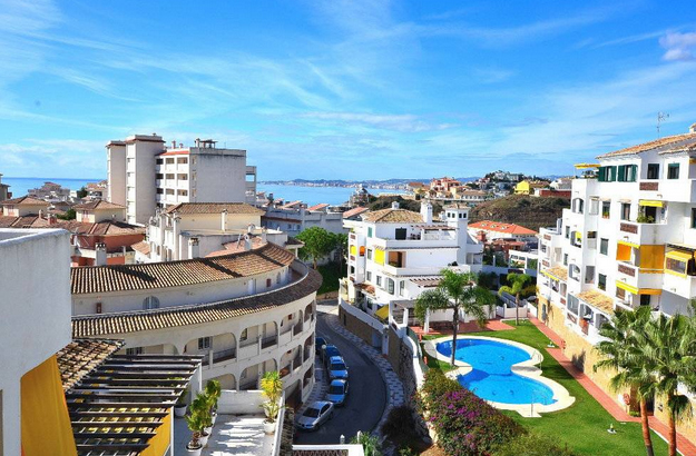 views from apartment on sale in Pueblo Torrequebrada